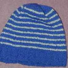 Cotton-hat-blue-white
