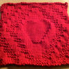 Diamond-heart-dishcloth