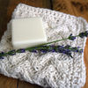 Lattic-washcloth-with-soap-and-lavender