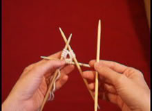 Knitting with double pointed needles
